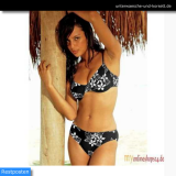 Bügel-Bikini, schwarz-weiß Gr.: 40 E-Cup