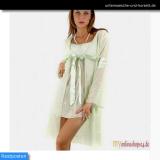 Dessous-Set: Chemise und Kimono hellgrün - Gr.: M von Lingadore